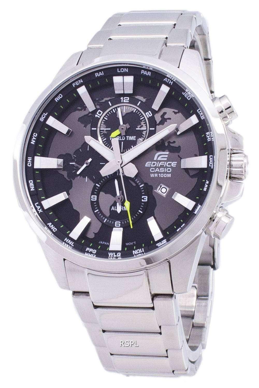 Casio World Map Watch.Casio Edifice Efr 303d 1av World Map Quartz Men S Watch Zetawatches