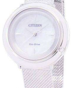 Citizen L Eco-Drive EM0640-82D Analog Diamond Accents Women's Watch