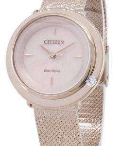 Citizen L Eco-Drive EM0643-84X Analog Diamond Accents Women's Watch