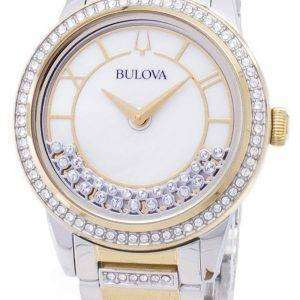 Bulova Crystal TurnStyle 98L245 Quartz Diamond Accents Women's Watch