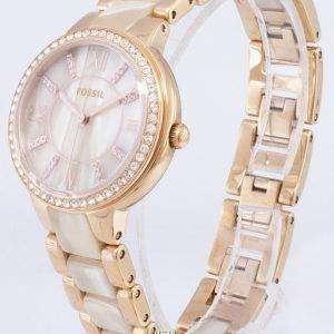 Fossil Virginia Crystals Horn Acetate Quartz ES3716 Women's Watch