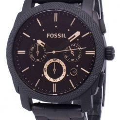 Fossil Machine Mid-Size Chronograph Black IP Stainless Steel FS4682 Mens Watch
