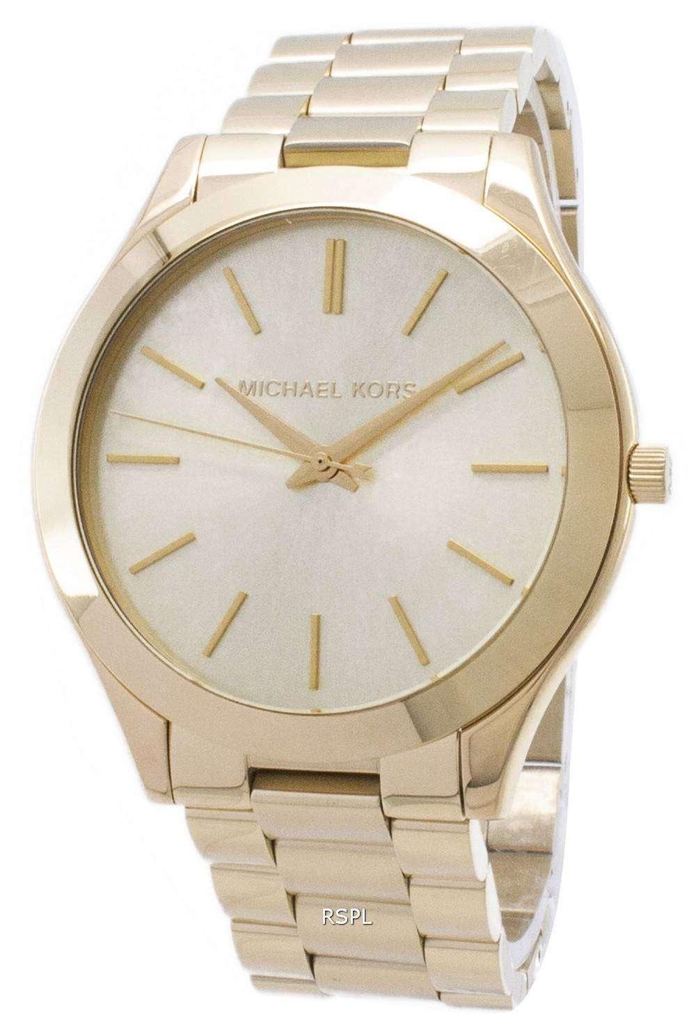 529fddeaada6 Michael Kors Runway Champagne Dial MK3179 Womens Watch - ZetaWatches