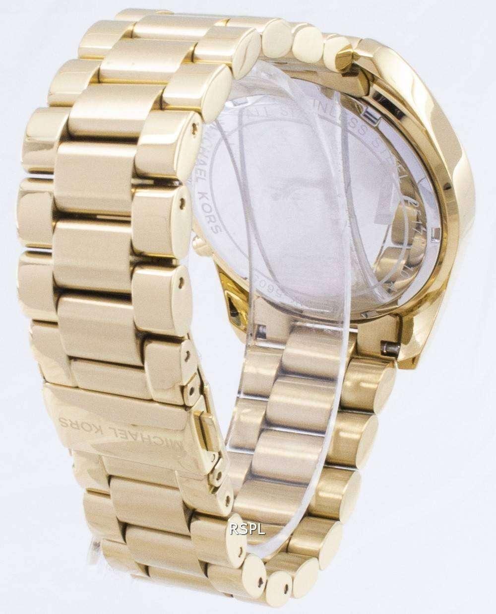 46fdfc3cc95d Michael Kors Bradshaw Chronograph Gold-Tone MK5605 Unisex Watch -  ZetaWatches