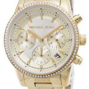 600360722324 Michael Kors Ritz Chronograph Quartz Diamond Accents MK6356 Women s Watch  ...