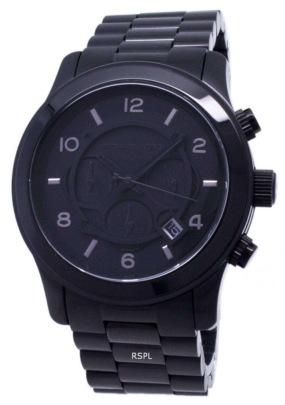 7e5f7c33b9d4 Michael Kors Blacked Out Runway Chronograph MK8157 Mens Watch ...