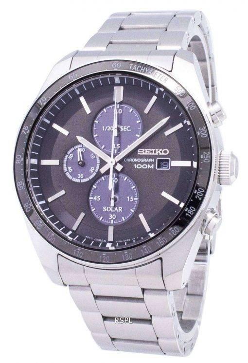 Seiko Solar SSC715 SSC715P1 SSC715P Chronograph Analog Men's Watch