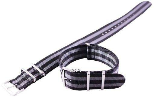 Grey And Black Nato Strap 22mm For SKX007, SKX009, SKX011, SRP497, SRP641