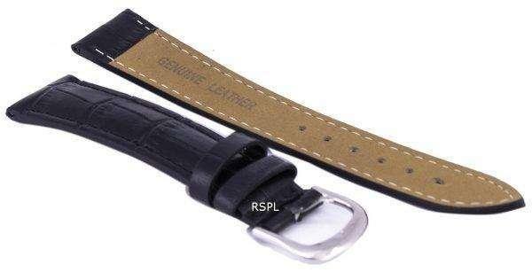Black Ratio Brand Leather Strap 18mm