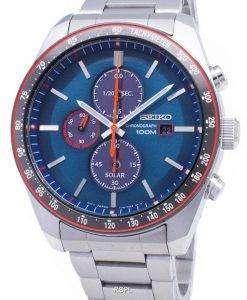 Seiko Solar SSC717 SSC717P1 SSC717P Chronograph Tachymeter Men's Watch