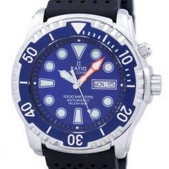 Ratio II Free Diver Helium-Safe 1000M Automatic 1068HA90-34VA-01 Men's Watch