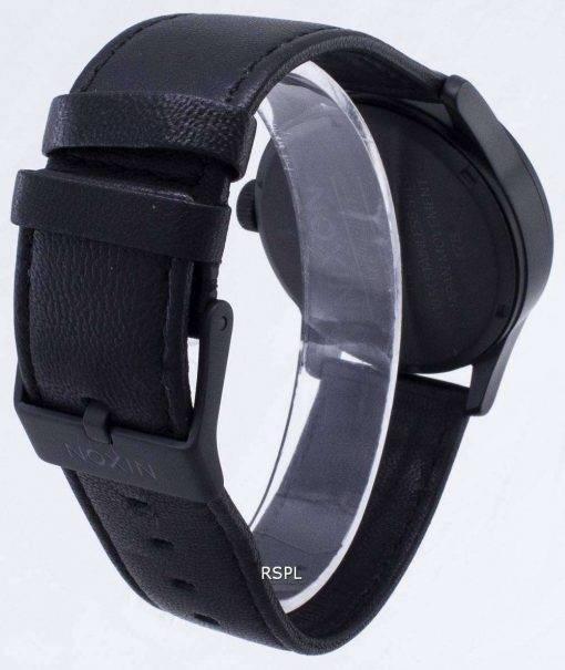 Nixon Quartz Sentry Black Leather A105-005-00 Mens Watch