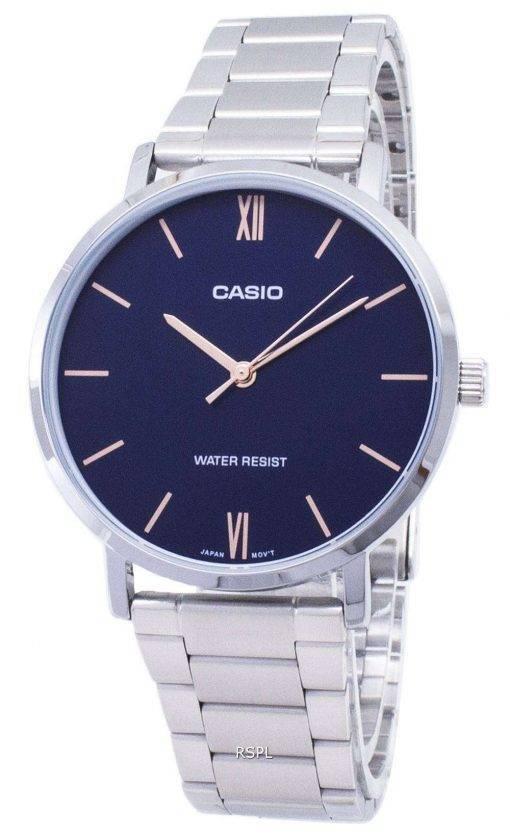 Casio Quartz MTP-VT01D-2B MTPVT01D-2B Analog Men's Watch