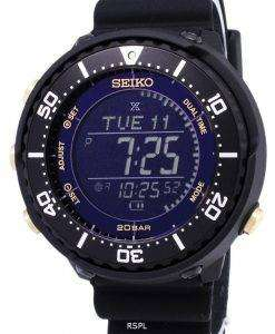 Seiko Prospex SBEP005 Fieldmaster Lowercase Dual Time Solar Men's Watch