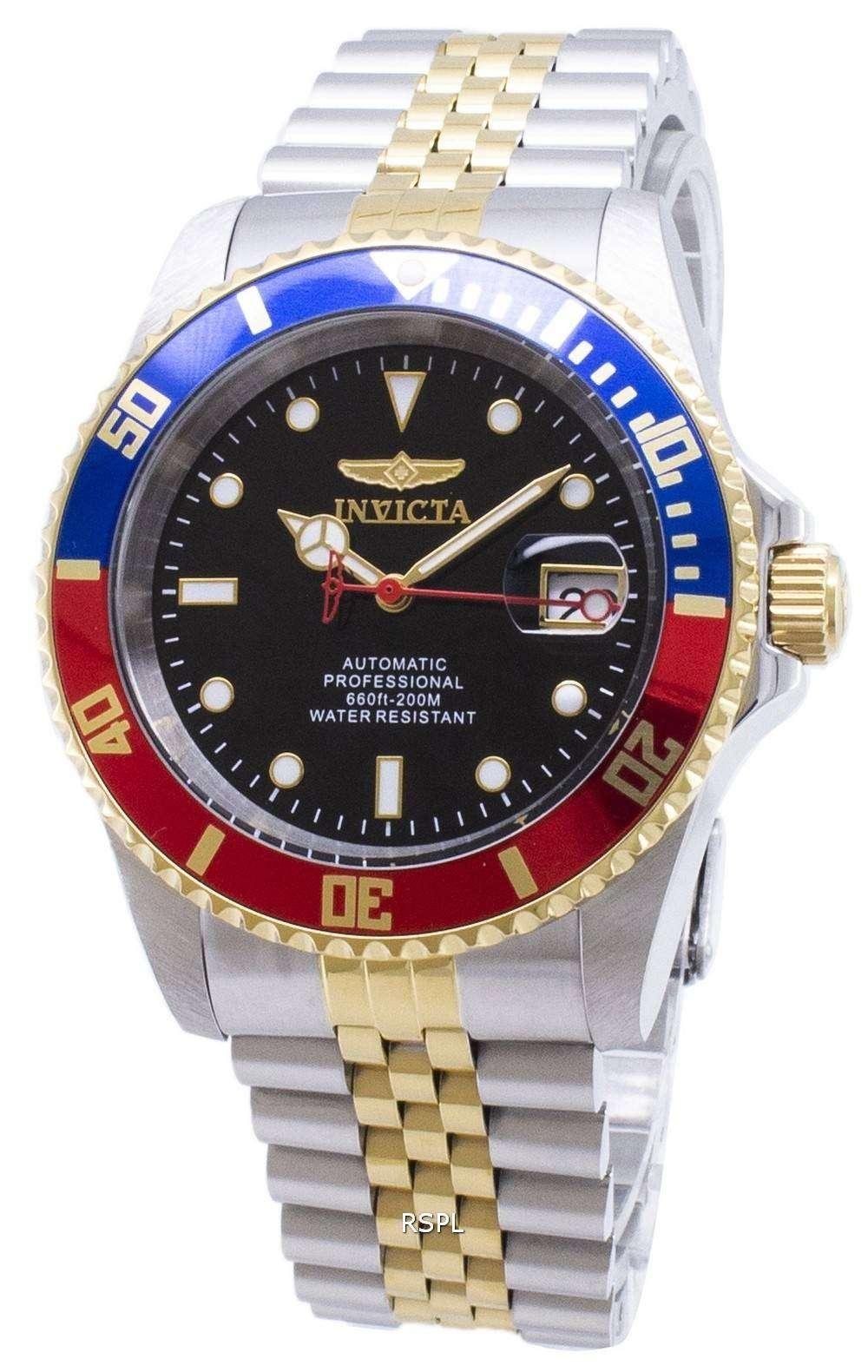 33243e991 Invicta Pro Diver Professional 29180 Automatic Analog 200M Men's Watch