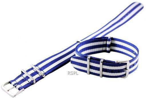 Blue And White Nato Strap 22mm