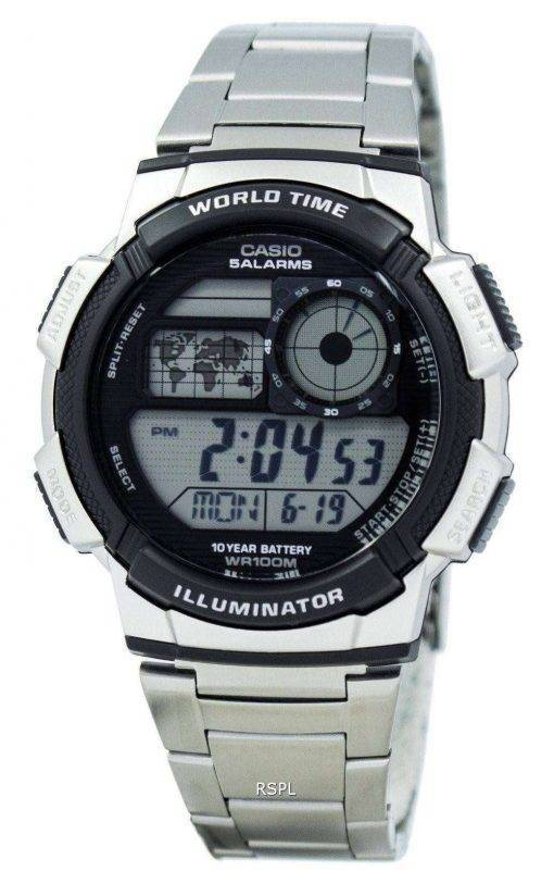 Casio Youth Digital World Time AE-1000WD-1AV Men's Watch