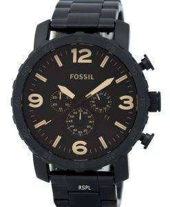 Fossil Nate Chronograph Brown Dial JR1356 Mens Watch