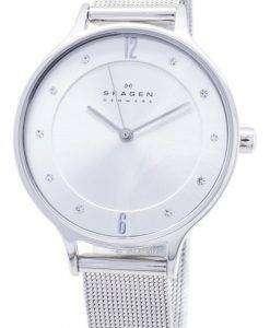 Skagen Anita Silver Dial Swarovski Crystal Mesh Bracelet SKW2149 Womens Watch