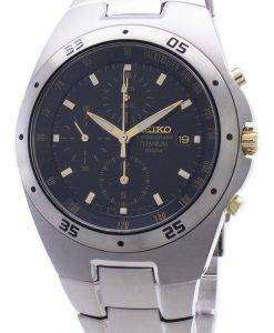 Seiko Chronograph Titanium Two-tone Mens Watch SND451P1