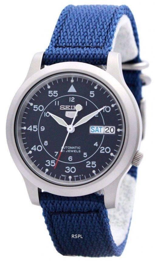 Seiko Automatic Military Nylon Mens Watch SNK807K2