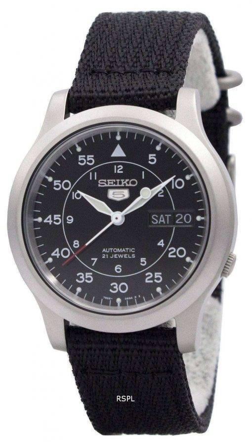 Seiko Automatic Military Nylon Mens Watch SNK809K2