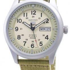 Seiko 5 Sports Automatic SNZG07K1 SNZG07 SNZG07K Military Nylon Strap Mens Watch
