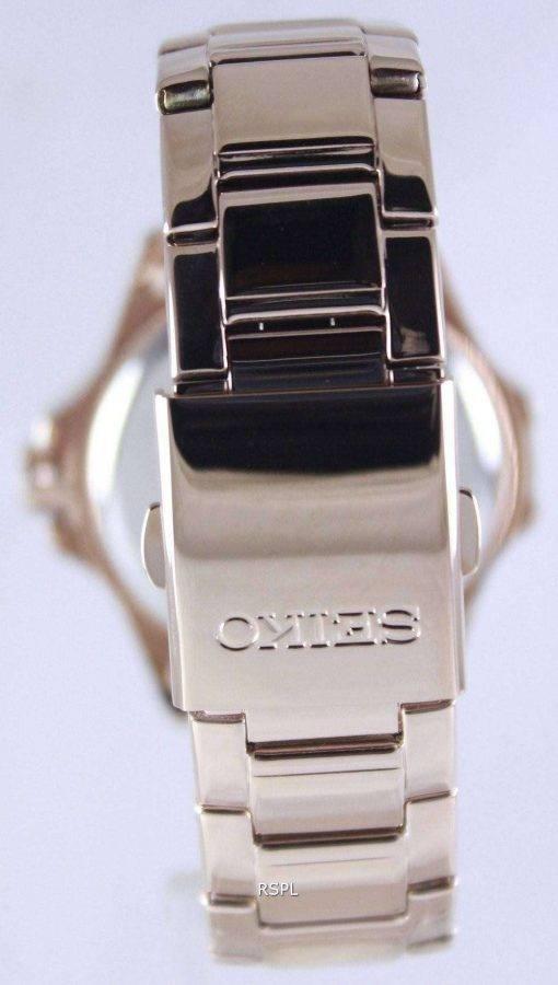 Seiko Quartz Crystals Rose Gold SUR802P1 SUR802P Women's Watch